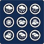 Weather 9 vector icons (set 7, part 1)