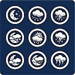 Weather vector icons (set 7, part 2)