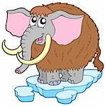 Cartoon mammoth on white background - vector illustration. Stock Photo - Royalty-Free, Artist: clairev                       , Code: 400-04586823