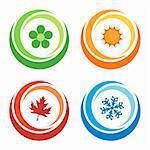 four seasons symbols concept
