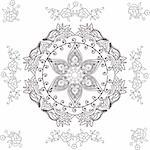 beautiful hand drawn vector pattern design good for textile, jewelery, henna and decorations. to see more patterns and floral designs. visit my portfolio.