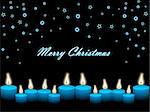 christmas snowflake and candles Stock Photo - Royalty-Free, Artist: aispl                         , Code: 400-04592872