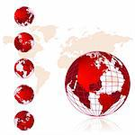 World map, 3D globe series Stock Photo - Royalty-Free, Artist: Kudryashka                    , Code: 400-04597124