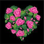 Vector floral heart. Easy to edit and modify. EPS file included.