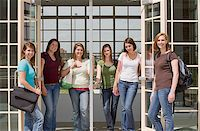 Group of College Girls at School Stock Photo - Royalty-Freenull, Code: 400-04604776