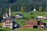 Gosau, beautiful town in Salzkammergut region, Austria