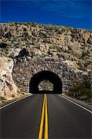 Image of a highway going into a tunnel Stock Photo - Royalty-Freenull, Code: 400-04610467