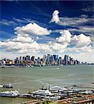 The Lower Manhattan Skyline viewed from New Jersey side Stock Photo - Royalty-Free, Artist: gary718                       , Code: 400-04612348