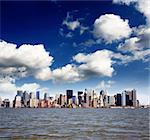 The Lower Manhattan Skyline viewed from New Jersey side Stock Photo - Royalty-Free, Artist: gary718                       , Code: 400-04612351