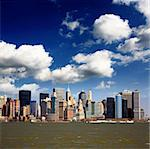 The Lower Manhattan Skyline viewed from New Jersey side Stock Photo - Royalty-Free, Artist: gary718                       , Code: 400-04612352