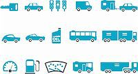 Vector icons pack - Blue Series, transport collection Stock Photo - Royalty-Freenull, Code: 400-04615294