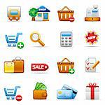 Set of icons on an shopping theme. Stock Photo - Royalty-Free, Artist: Filata                        , Code: 400-04616089