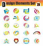 Colorful Set of 20 Design Elements Stock Photo - Royalty-Free, Artist: DavidArts                     , Code: 400-04619334