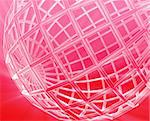Abstract globe grid wireframe sphere illustration background Stock Photo - Royalty-Free, Artist: kgtoh                         , Code: 400-04619964