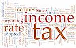 Word cloud concept illustration of  income tax Stock Photo - Royalty-Free, Artist: kgtoh                         , Code: 400-04619984