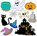 Various Halloween images 2 - vector illustration. Stock Photo - Royalty-Free, Artist: clairev                       , Code: 400-04620855