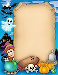 Halloween parchment 1 - color illustration. Stock Photo - Royalty-Free, Artist: clairev                       , Code: 400-04620858