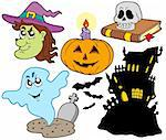 Various Halloween images 4 - vector illustration. Stock Photo - Royalty-Free, Artist: clairev                       , Code: 400-04622631