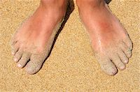 Feet in Sand Stock Photo - Premium Royalty-Freenull, Code: 600-04625263