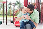 Father and Daughter on Swing Stock Photo - Premium Royalty-Free, Artist: Kevin Dodge, Code: 600-04625282
