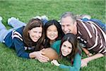 Portrait of Family with Football Stock Photo - Premium Rights-Managed, Artist: Kevin Dodge, Code: 700-04625375