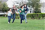 Family Playing Football Stock Photo - Premium Rights-Managed, Artist: Kevin Dodge, Code: 700-04625377