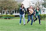 Family Playing Football Stock Photo - Premium Rights-Managed, Artist: Kevin Dodge, Code: 700-04625378