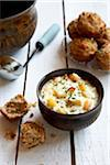 Seafood Chowder and Biscuits Stock Photo - Premium Royalty-Free, Artist: Jodi Pudge, Code: 600-04625546