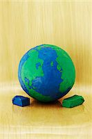 Plasticine Earth Stock Photo - Premium Royalty-Freenull, Code: 600-04625579