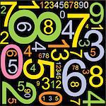 Abstract background with colorful numbers Stock Photo - Royalty-Free, Artist: orsonsurf                     , Code: 400-04626102