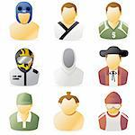 Series of sports people icon 2 Stock Photo - Royalty-Free, Artist: freud                         , Code: 400-04629608