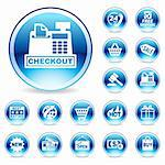 Online Shopping icons Stock Photo - Royalty-Free, Artist: arrow123                      , Code: 400-04629749