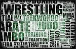 Wrestling Martial Arts as a Fighting Style Stock Photo - Royalty-Free, Artist: kentoh                        , Code: 400-04630252