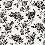 Romantic roses seamless pattern tile. Full scalable vector graphic, change the colors as you like.