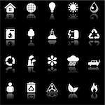 Set of 20 environmental icons.