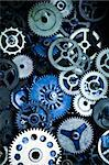 Macro detail of old gears Stock Photo - Royalty-Free, Artist: JanPietruszka                 , Code: 400-04636283