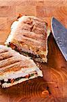 grilled panini sandwich with melted cheese Stock Photo - Royalty-Free, Artist: malino                        , Code: 400-04638716