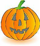 Vector illustration of orange pumpkin Stock Photo - Royalty-Free, Artist: Ika747                        , Code: 400-04644575