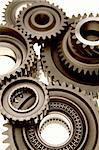 Closeup of assorted steel gears Stock Photo - Royalty-Free, Artist: STILLFX                       , Code: 400-04645067