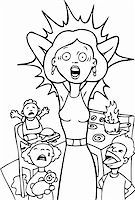 Mother is reaching her breaking point at home - black and white. Stock Photo - Royalty-Freenull, Code: 400-04645701
