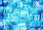 Vector illustration of blue round abstract  background