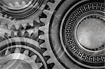 Montage of various steel gears Stock Photo - Royalty-Free, Artist: STILLFX                       , Code: 400-04647734