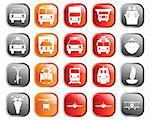 Transportation set of different vector web icons Stock Photo - Royalty-Free, Artist: angelp                        , Code: 400-04649351