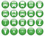 Transportation set of different vector web icons Stock Photo - Royalty-Free, Artist: angelp                        , Code: 400-04649352