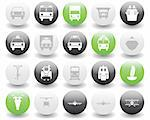 Transportation set of different vector web icons Stock Photo - Royalty-Free, Artist: angelp                        , Code: 400-04649354