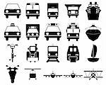 Transportation set of different vector web icons Stock Photo - Royalty-Free, Artist: angelp                        , Code: 400-04650147