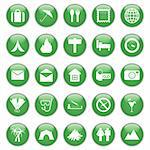 Travel set of different vector web icons Stock Photo - Royalty-Free, Artist: angelp                        , Code: 400-04650277