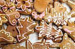 xmas homemade cookies from the czech republic Stock Photo - Royalty-Free, Artist: jonnysek                      , Code: 400-04650767