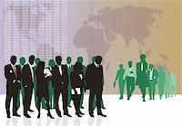 Vector illustration of old and young World traders Stock Photo - Royalty-Freenull, Code: 400-04651761