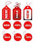 Vector set of sale tags Stock Photo - Royalty-Free, Artist: sutike                        , Code: 400-04656917